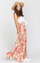 MUMU Mick Slit Maxi Skirt ~ Pretty Pretty Petals