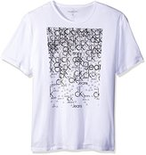 Calvin Klein Jeans Men's Mini Ck Square Logo Crew Neck T-Shirt