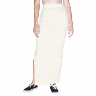 American Apparel Women's Thick Rib Maxi Skirt