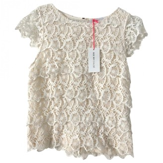 See by Chloe Ecru Cotton Top for Women