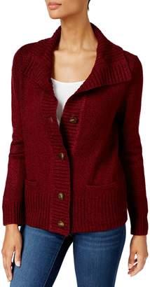 Karen Scott Shawl Collar Button-Down Cardigan