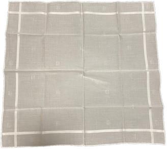 Hermes White Cotton Scarves & pocket squares