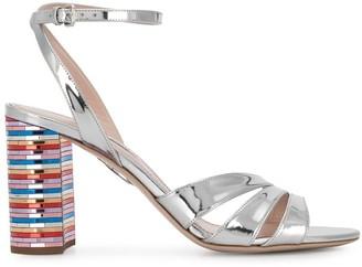 Miu Miu Contrast Heel Sandals
