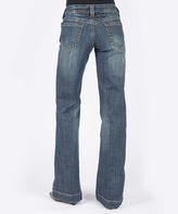 Stetson Blue Stitched-Circle Bootcut Jeans