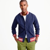 J.Crew French terry baseball jacket