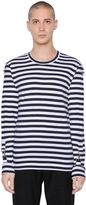 Comme des Garcons Striped Cotton Jersey T-Shirt
