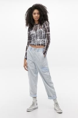 BDG Blaine Bleached Wash Jeans - Blue 24W 30L at Urban Outfitters