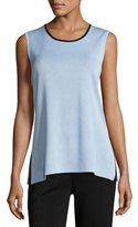Misook Contrast Scoop-Neck Knit Tank, Petite