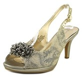 Karen Scott Briant Women Peep-toe Synthetic Gold Slingback Heel.