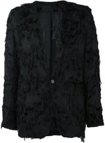 Ann Demeulemeester fringed blazer - men - Rayon/Cotton - L