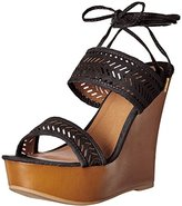 Qupid Women's Kendall-60a Wedge Sandal