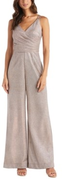 Night Way Nightway Metallic Wrap Jumpsuit