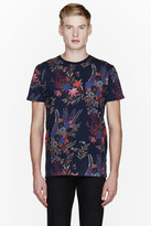 Marc by Marc Jacobs Navy Floral print t-shirt