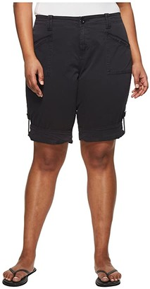 Aventura Clothing Plus Size Addie V2 Shorts (Black) Women's Shorts