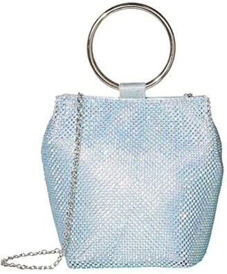 Jessica McClintock Gwen Clutch (Iridescent Aqua) Clutch Handbags