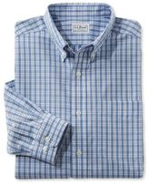 L.L. Bean Wrinkle-Free Vacationland Shirt, Traditional Fit Long-Sleeve Plaid
