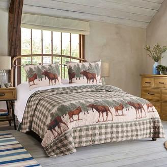 Greenland Home Fashions Moose Creek Quilt Set