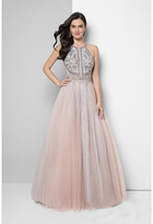 Terani Couture Sequin Embellished Halter Prom Dress 1611P1238A