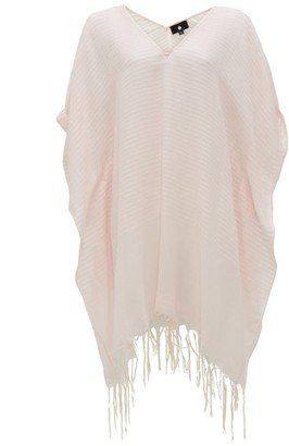 SU PARIS Luma Striped Cotton-gauze Kaftan - Light Pink