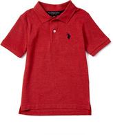 U.S. Polo Assn. Nantucket Red Heather Horse Emblem Polo - Toddler & Boys