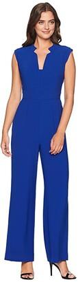Tahari ASL Jumpsuit with Pockets (Cobalt) Women's Jumpsuit & Rompers One Piece