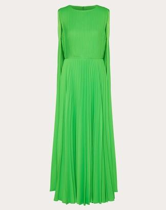 Valentino Crepe-back Satin Dress Women Fluorescent Green Elastane 100% 40