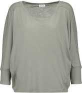 Splendid Waffle knit-trimmed Supima cotton and Micro Modal-blend top