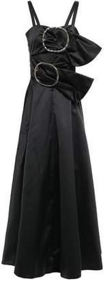 Nina Ricci Buckle-embellished Cutout Duchesse Satin Maxi Dress