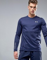 Under Armour ColdGear Infrared Grid Long Sleeve T-Shirt In Navy