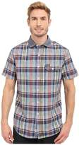 U.S. Polo Assn. Short Sleeve Plaid Poplin Spread Collar Sport Shirt