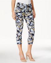 Charter Club Petite Bristol Floral-Print Capri Jeans, Created for Macy's