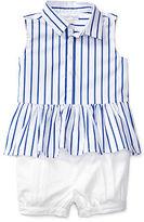 Ralph Lauren Striped Top & Poplin Short Set