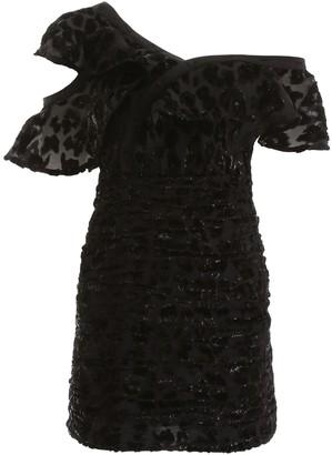 Self-Portrait Ruffle Detail Asymmetric Dress