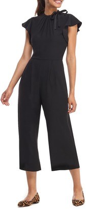 Gal Meets Glam Sybil Flutter Sleeve Jumpsuit (Regular & Plus Size)