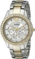XOXO Women's XO5478 Two-Tone Bracelet With Rhinestones Accent Bezel Watch