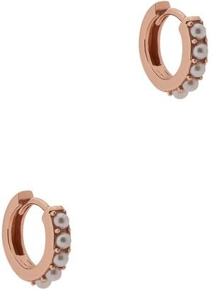 Olivia Burton Rose Gold-plated Hoop Earrings