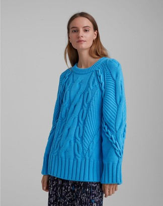 Club Monaco Oversized Cable Crew Sweater
