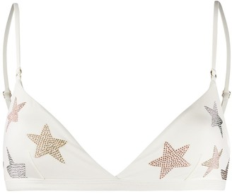 Stella McCartney Star-Embellished Bikini Top
