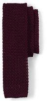 Lands' End Men's Long Classic Silk Knit Necktie-Merlot