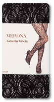 Merona Women's Tights Black Deco Lace