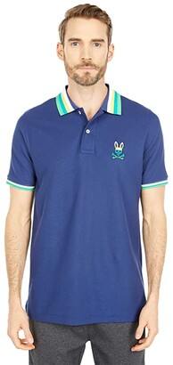 Psycho Bunny Westhorpe Polo (Admiral Blue) Men's Clothing