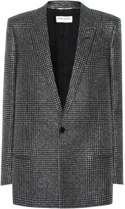 Saint Laurent Metallic checked blazer