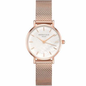 ROSEFIELD Women's Watch The Small Edit White Dial Rose Gold Strap Rose Gold Round Case 26WR-265
