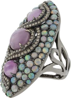 Wendy Yue Star Ruby And Opal Ring