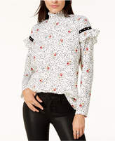 Glam by Glamorous Studded Mock-Neck Blouse, Created for Macy's