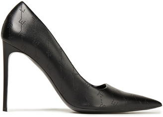 Stella McCartney Monogram Perforated Faux Leather Pumps