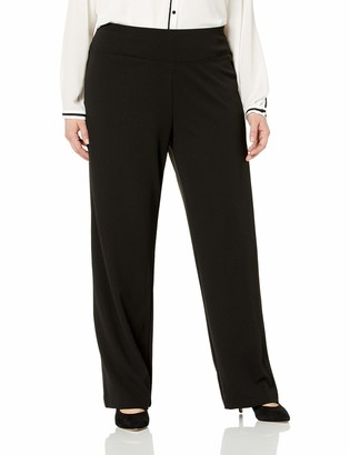 Slim Sation SLIM-SATION Women's Plus Size Pull on Solid Wide Leg Pant