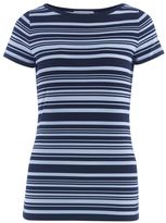 Michael Kors White And Blue Striped Sweater
