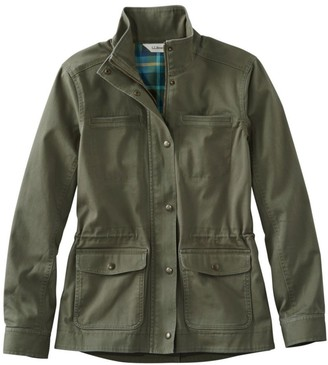 L.L. Bean Women's Classic Utility Jacket, Flannel-Lined