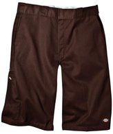 Dickies Men's 13 Inch Loose Fit Multi-Pocket Work Short, Dark Brown, 29